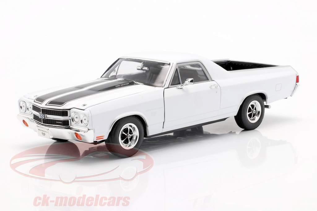 Chevrolet El Camino année 1970 blanc / noir 1:18 Welly