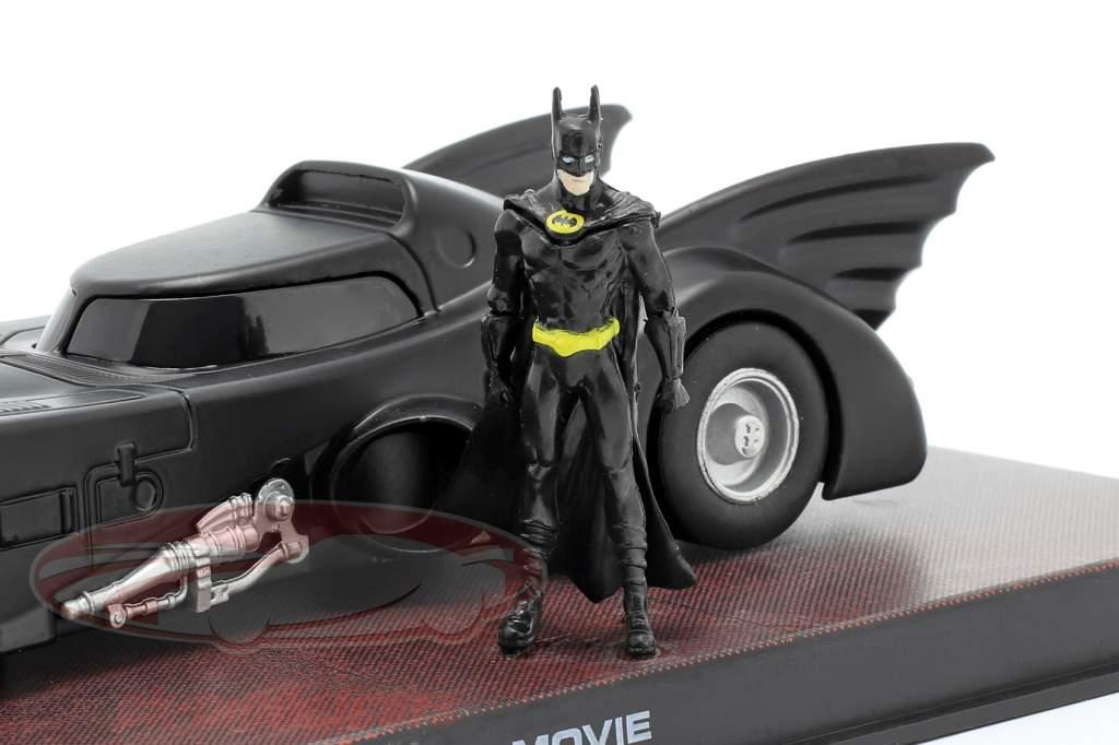 Batmobile Filmauto Batman 1989 zwart 1:43 Ixo Altaya