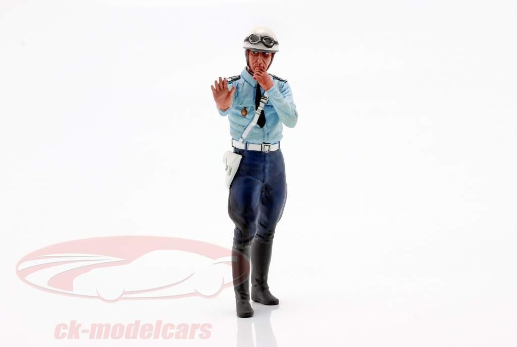 Policía de la motocicleta Michel figura 1:18 LeMansMiniatures