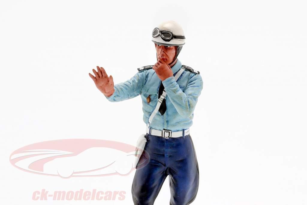Policial de motocicleta Michel figura 1:18 LeMansMiniatures