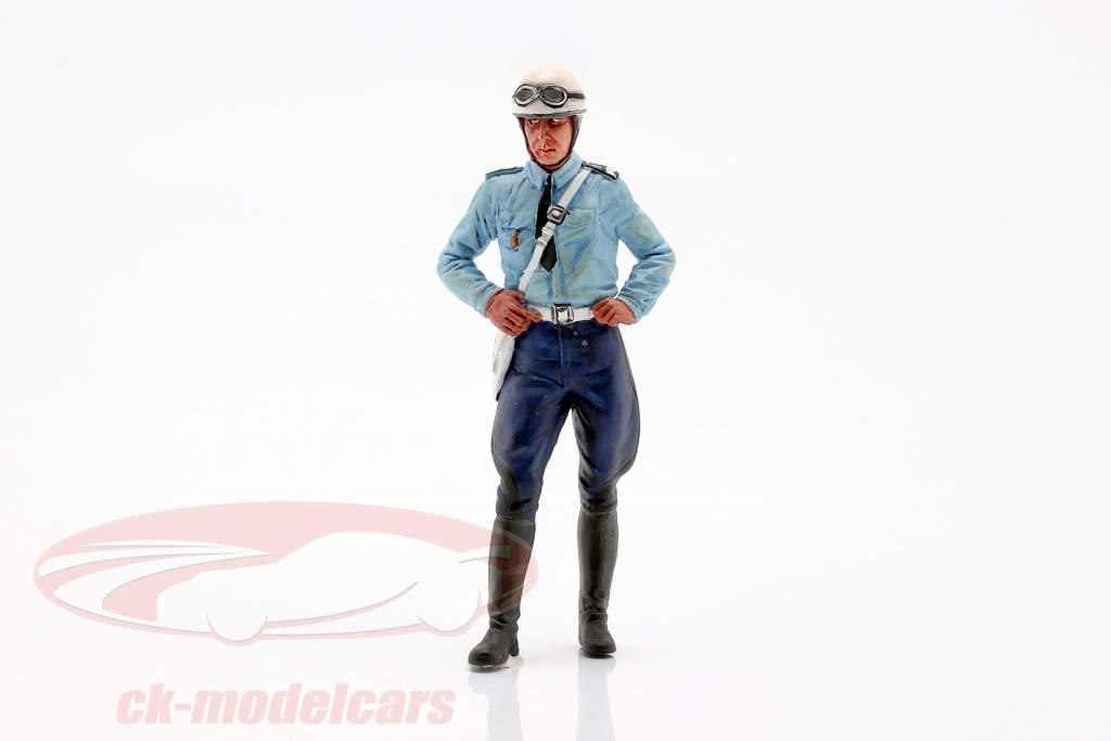 Motorcykel politibetjent Paul figur 1:18 LeMansMiniatures