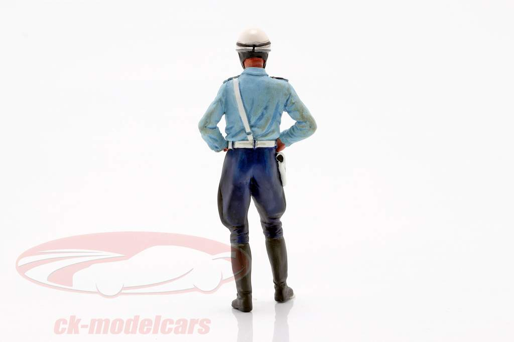 Motorcycle policeman Paul figure 1:18 LeMansMiniatures