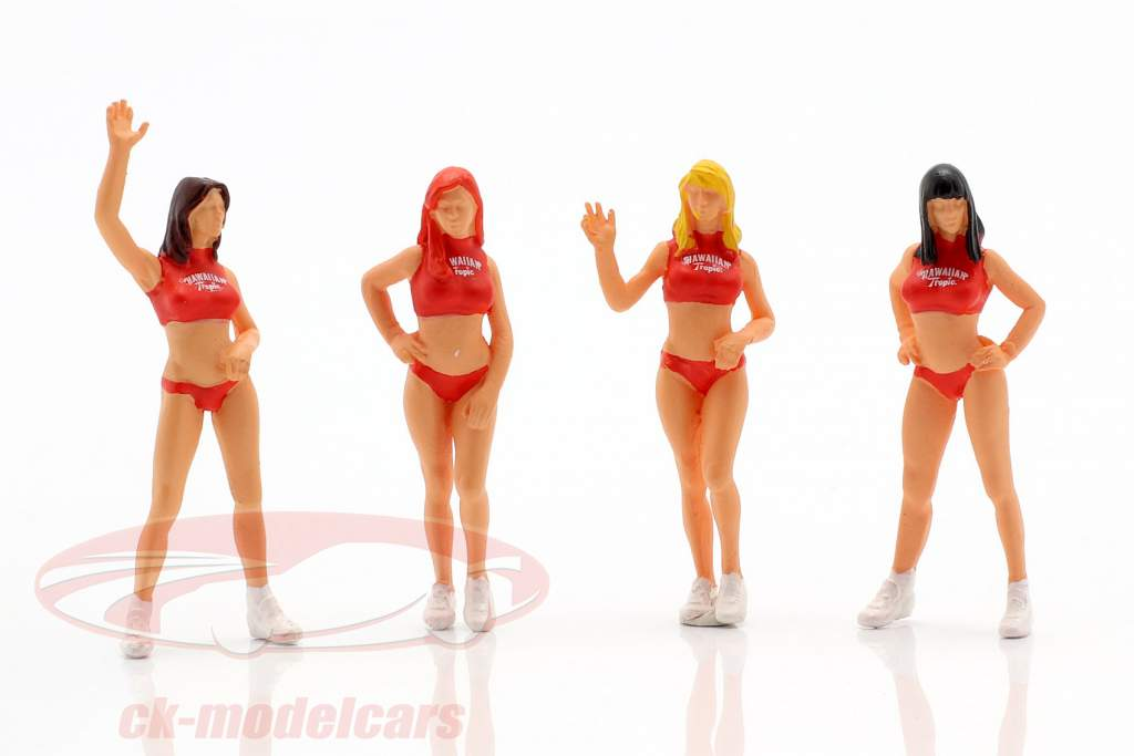 Grid Girls 4 characters Set 1:43 LeMansMiniatures