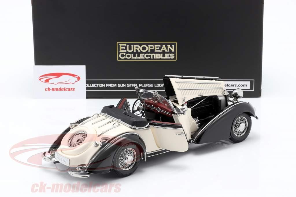 Horch 855 Roadster year 1939 black / white 1:18 SunStar