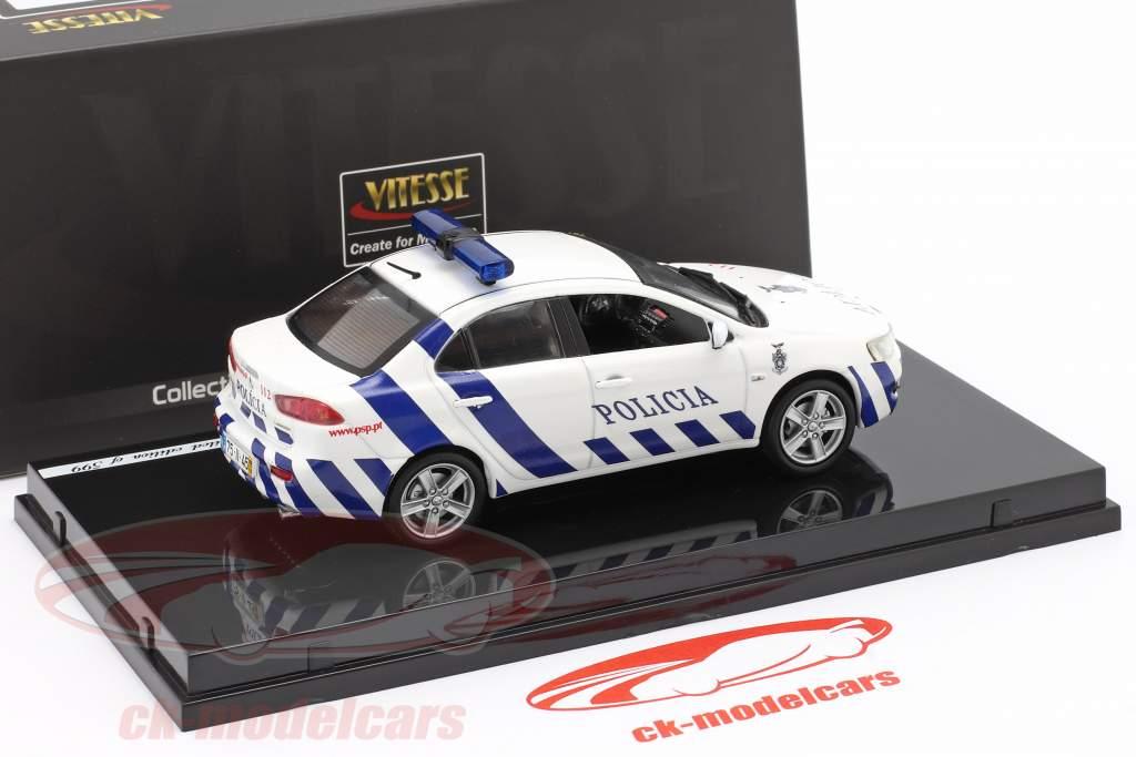 Mitsubishi Lancer police Madeira year 2010 white / blue 1:43 Vitesse