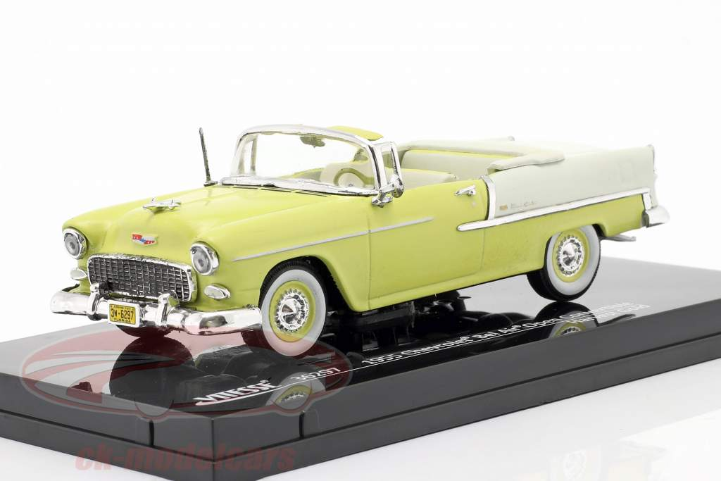 Chevrolet Bel Air Convertible Open Top 1955 gul / hvid 1:43 Vitesse
