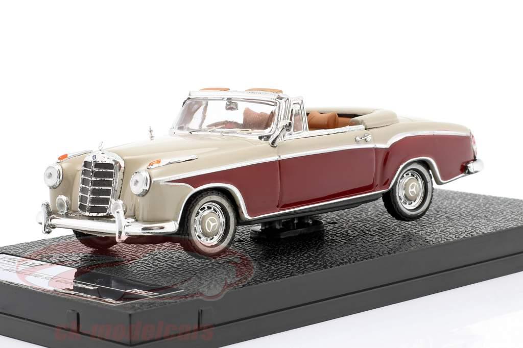 Mercedes-Benz 220 SE Cabriolet 1958 elfenben / rød 1:43 Vitesse