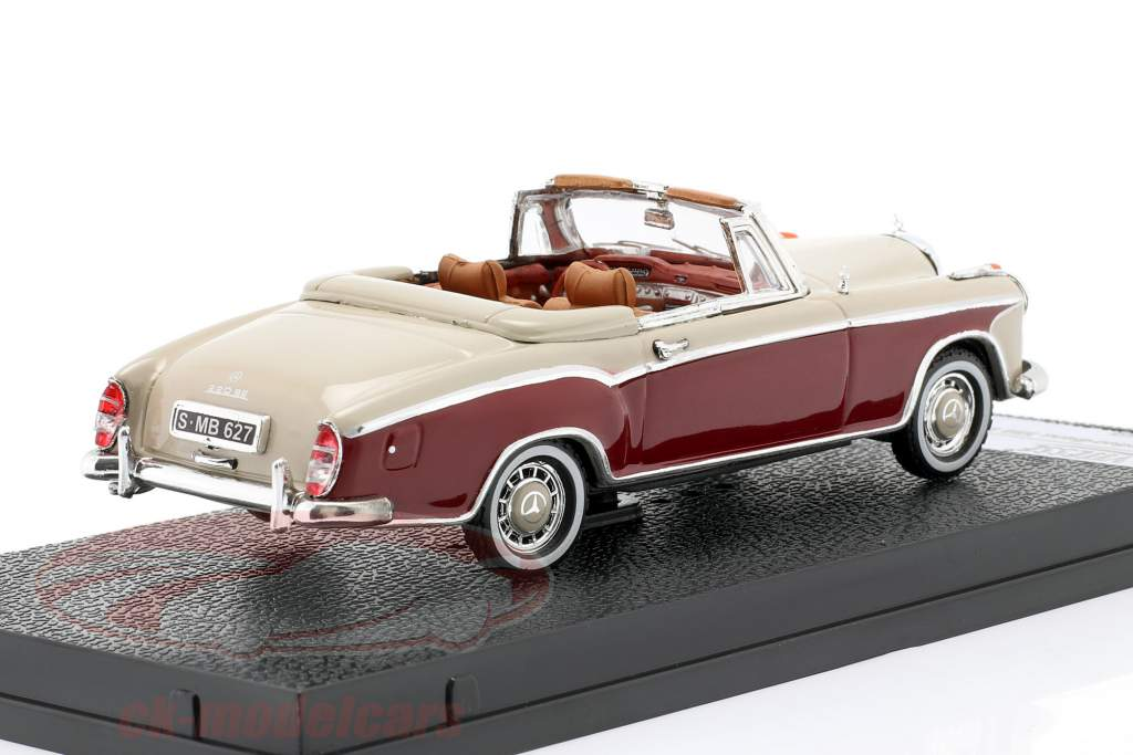 Mercedes-Benz 220 SE Cabriolé 1958 Marfil / rojo 1:43 Vitesse