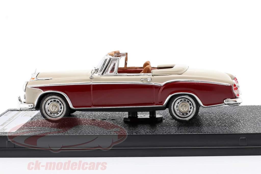 Mercedes-Benz 220 SE Cabriolet 1958 avorio / rosso 1:43 Vitesse