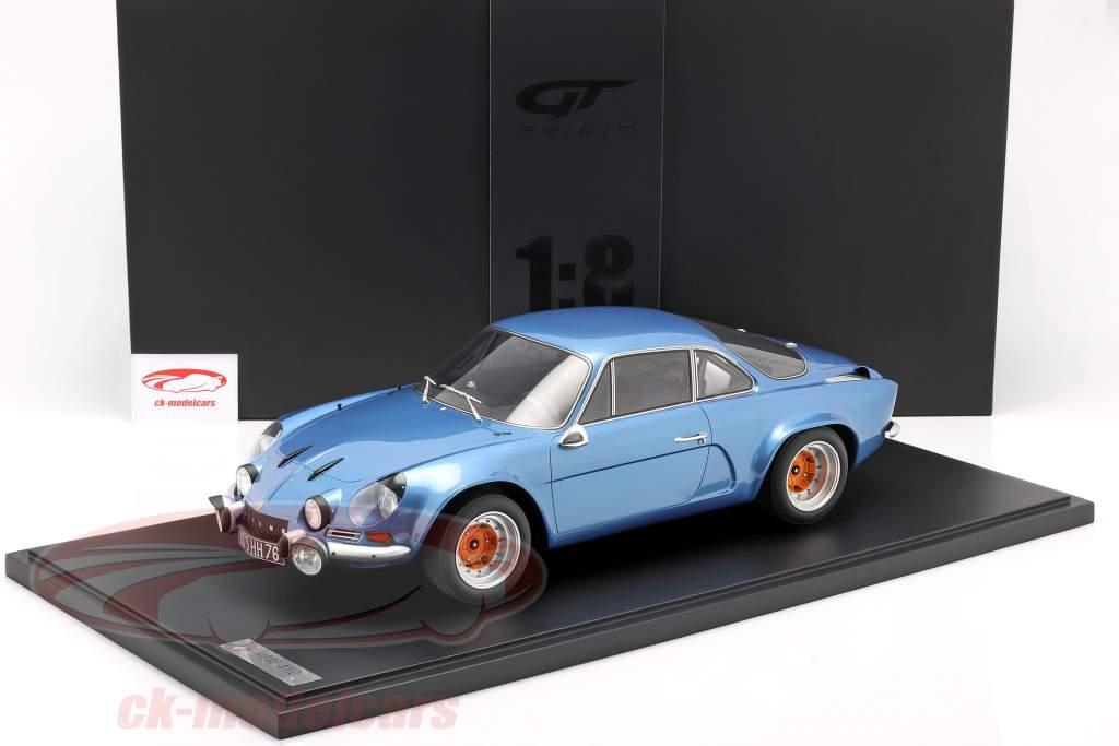 Renault Alpine A110 1800 Coupe Gr.4 1973 azul metálico Con Escaparate 1:8 GT-Spirit
