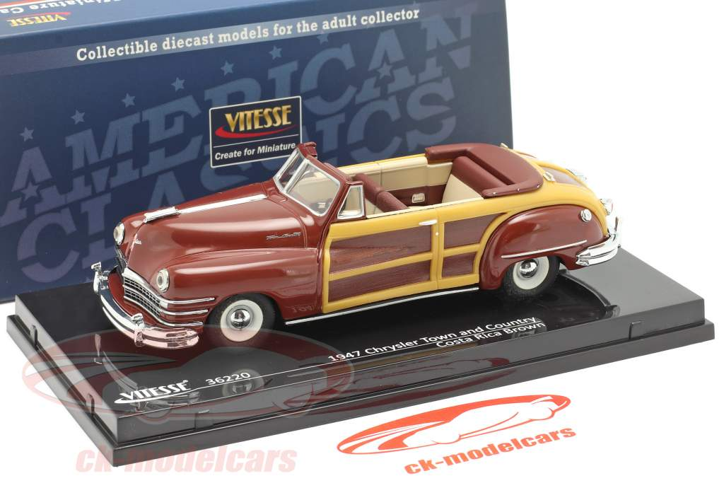 Chrysler Town and Country år 1947 costa rica Brun 1:43 Vitesse