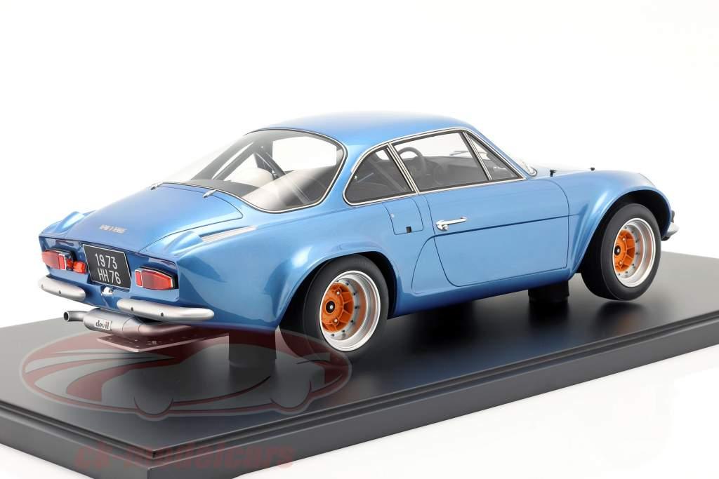 Renault Alpine A110 1800 Coupe Gr.4 1973 bleu métallique Avec Vitrine 1:8 GT-Spirit