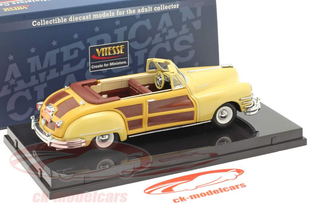Chrysler Town and Country an 1947 Jaune lustre 1:43 Vitesse