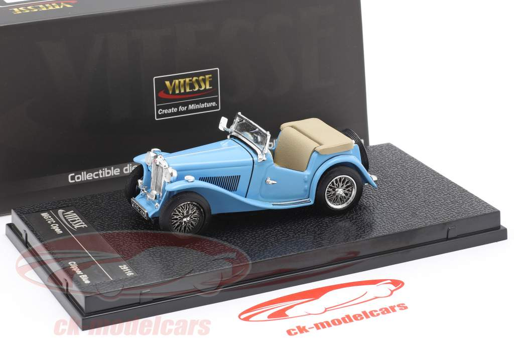 MGTC Open Baujahr 1946 clipper blue 1:43 Vitesse