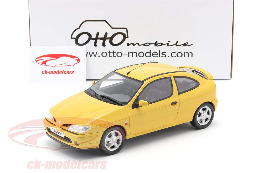 Renault Megane Mk1 Coupe 2.0 16V year 1999 sunflower yellow 1:18 OttOmobile