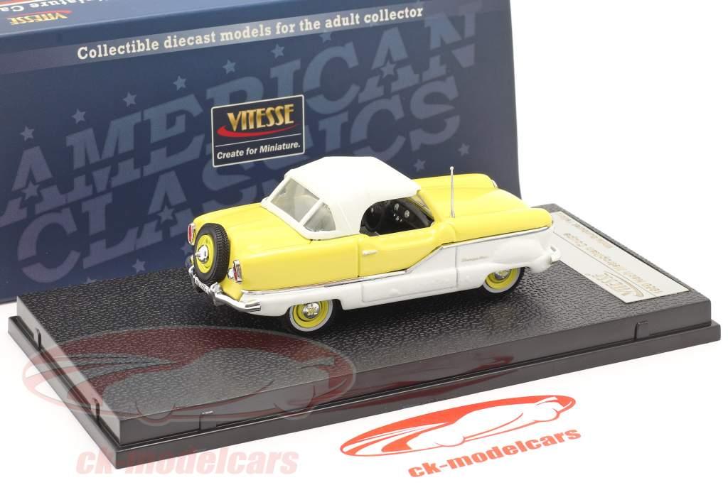 Nash Metroplitan Coupe jaar 1959 wit / geel 1:43 Vitesse