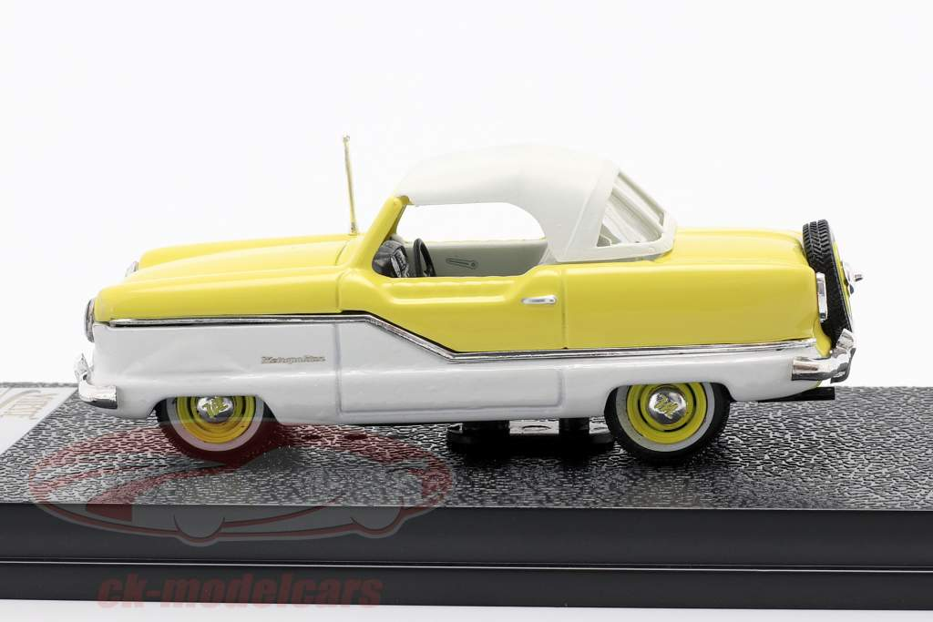 Nash Metroplitan Coupe year 1959 white / yellow 1:43 Vitesse