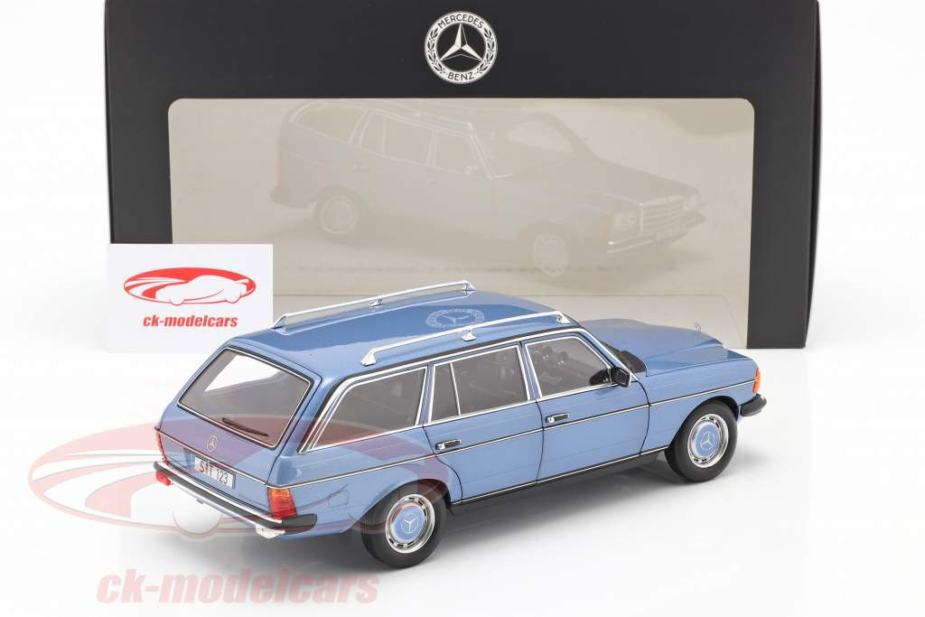 Mercedes-Benz 200 T-Modell (S123) year 1980-1985 diamond blue 1:18 Norev