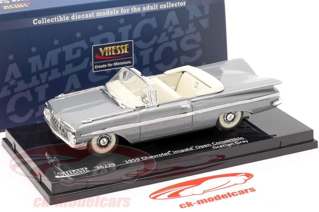 Chevrolet Impala Open Convertible anno 1959 grigio 1:43 Vitesse