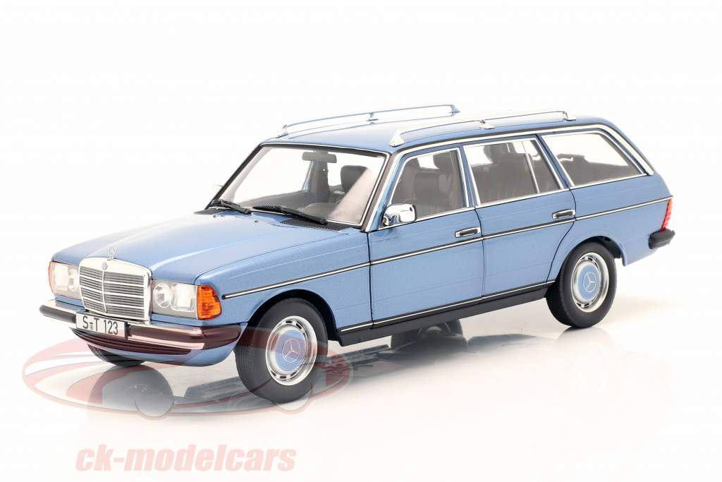 Mercedes-Benz 200 T-Modell (S123) Byggeår 1980-1985 diamantblå 1:18 Norev