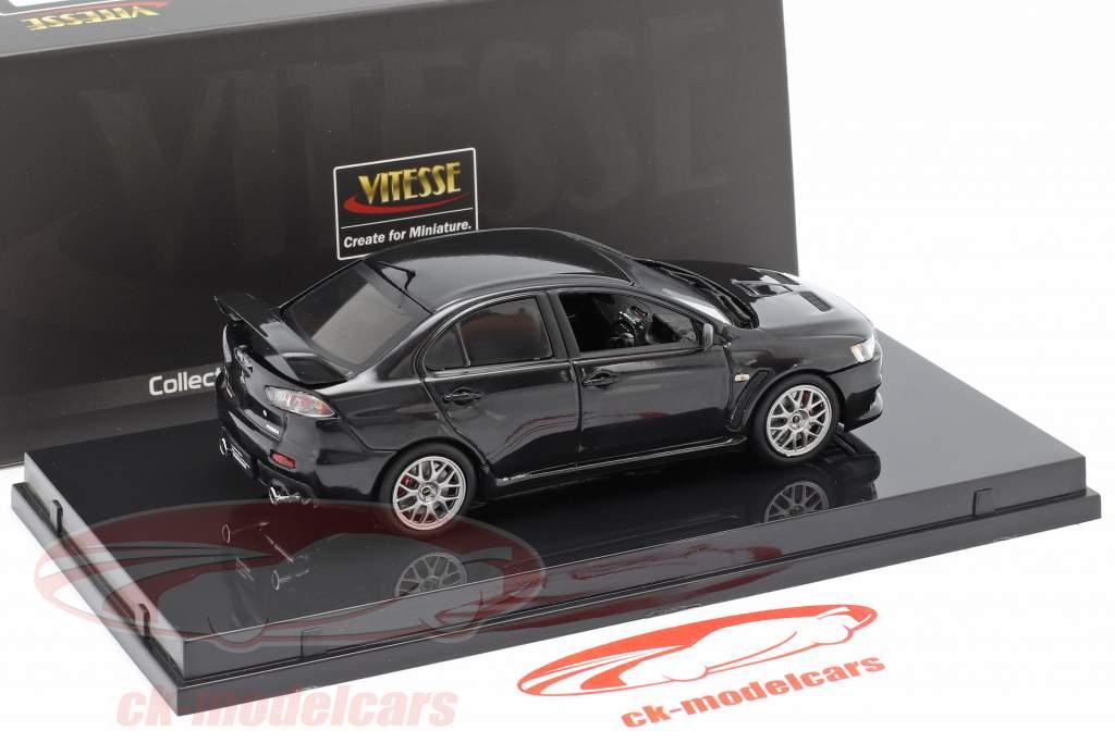 Mitsubishi Lancer Evolution X an 2012 fantôme noir 1:43 Vitesse