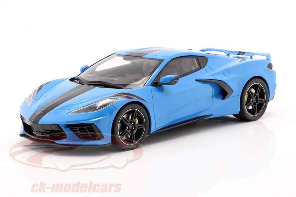 Chevrolet Corvette C8 建设年份 2020 蓝色 / 黑色 1:18 GT-Spirit