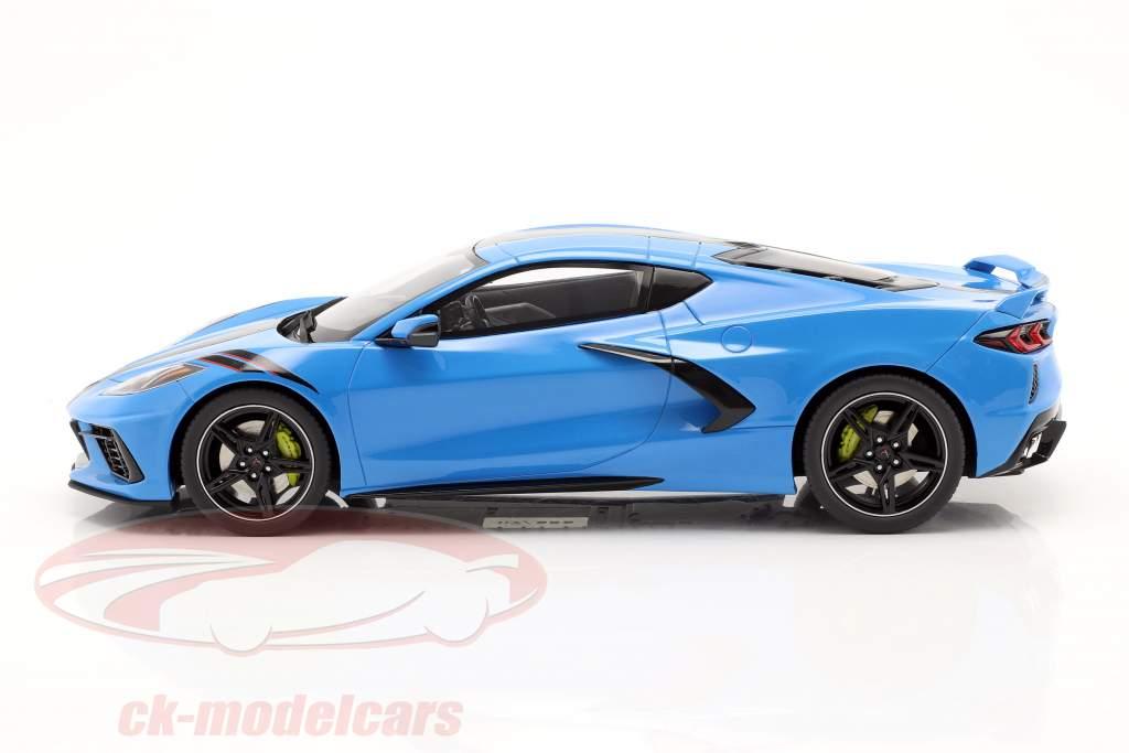 Chevrolet Corvette C8 Byggeår 2020 blå / sort 1:18 GT-Spirit