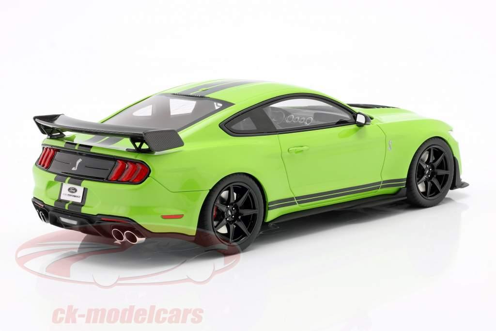 Ford Shelby GT500 Coupe Año de construcción 2020 Grabber Lime 1:18 GT-Spirit