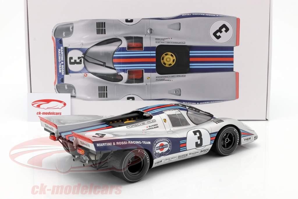 Porsche 917K #3 vencedora 12h Sebring 1971 Elford, Larrousse 1:12 Norev