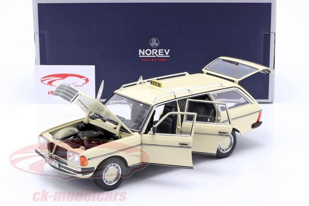 Mercedes-Benz 200 T (S123) Taxi Bouwjaar 1982 licht ivoor 1.18 Norev