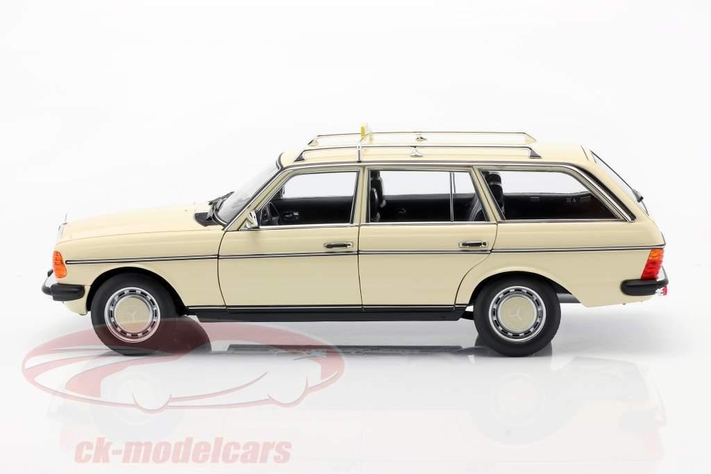 Mercedes-Benz 200 T (S123) Taxi Baujahr 1982 hellelfenbein 1.18 Norev