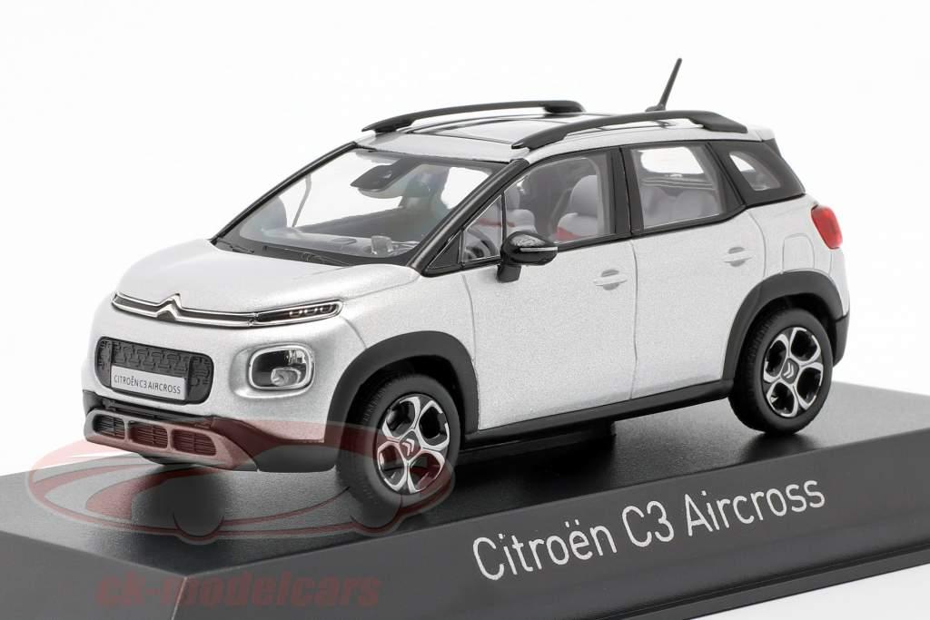 Citroen C3 Aircross año 2017 cósmico plata 1:43 Norev