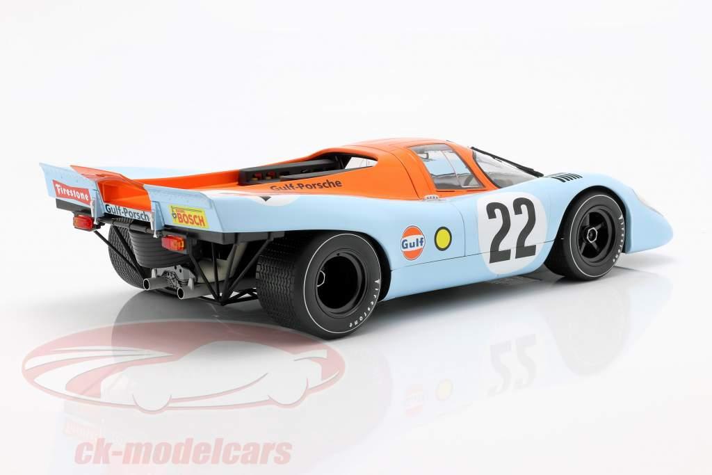 Porsche 917K Gulf #22 24h LeMans 1970 Hobbs, Hailwood 1:12 Norev