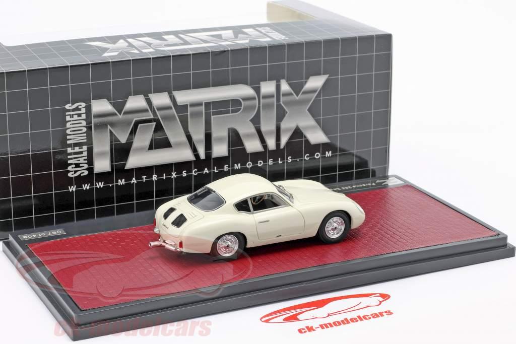 Porsche 356 Zagato Coupe Byggeår 1959 hvid 1:43 Matrix