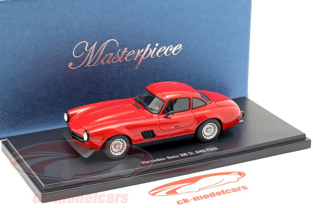 Mercedes-Benz 300 SL Gullwing AMG Flick 1974 red 1:43 AutoCult