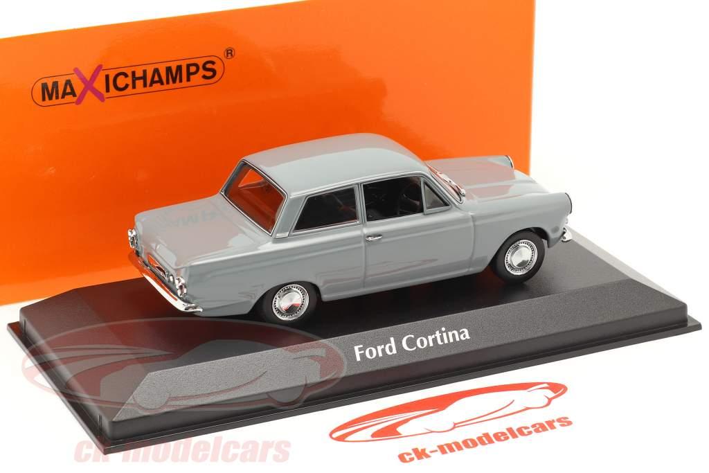 Ford Cortina MK I Byggeår 1962 Grå 1:43 Minichamps