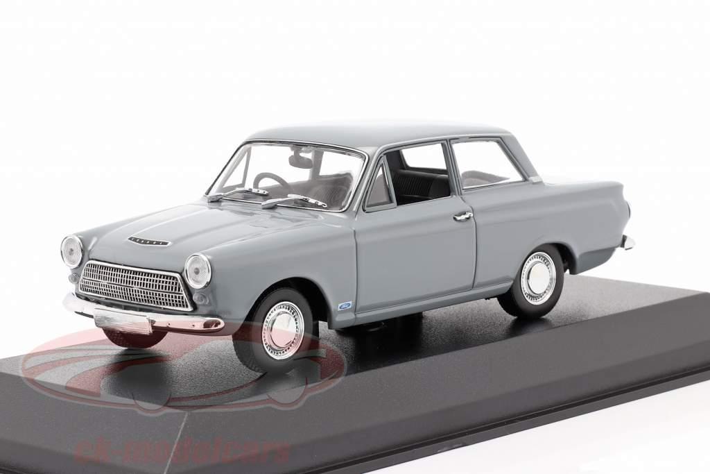 Ford Cortina MK I Ano de construção 1962 cinzento 1:43 Minichamps