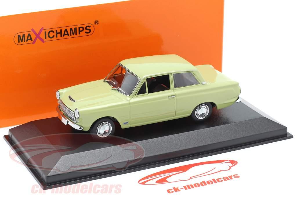 Ford Cortina MK I Anno di costruzione 1962 luce verde 1:43 Minichamps