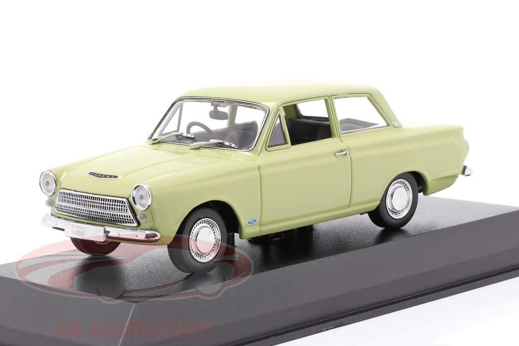 Ford Cortina MK I Byggeår 1962 lys grøn 1:43 Minichamps