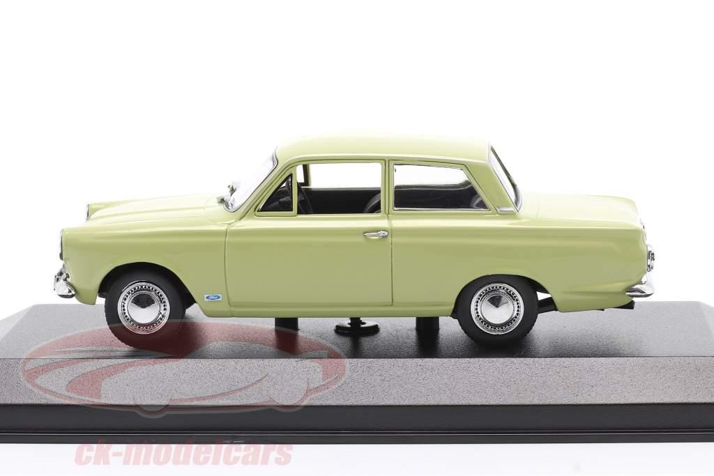 Ford Cortina MK I Año de construcción 1962 ligero verde 1:43 Minichamps