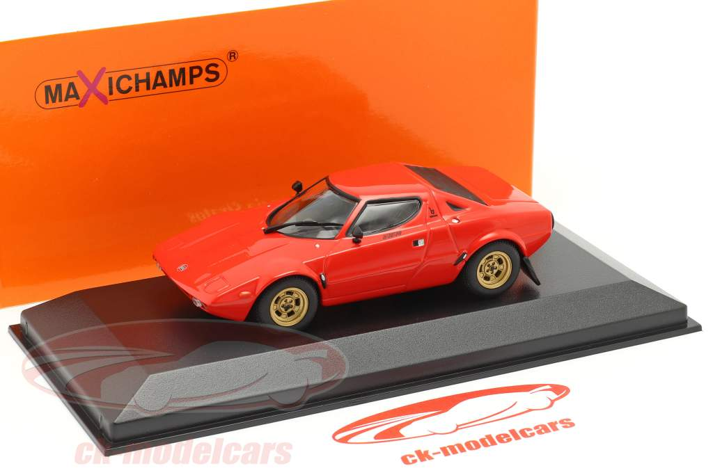 Lancia Stratos Bouwjaar 1974 rood 1:43 Minichamps