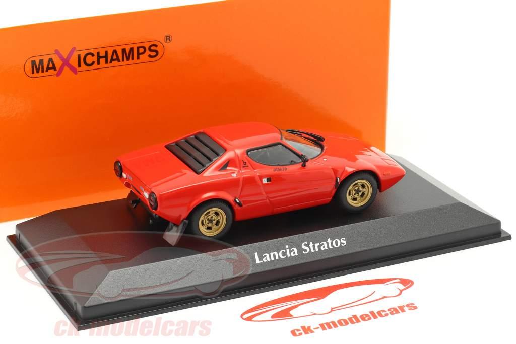 Lancia Stratos Ano de construção 1974 vermelho 1:43 Minichamps