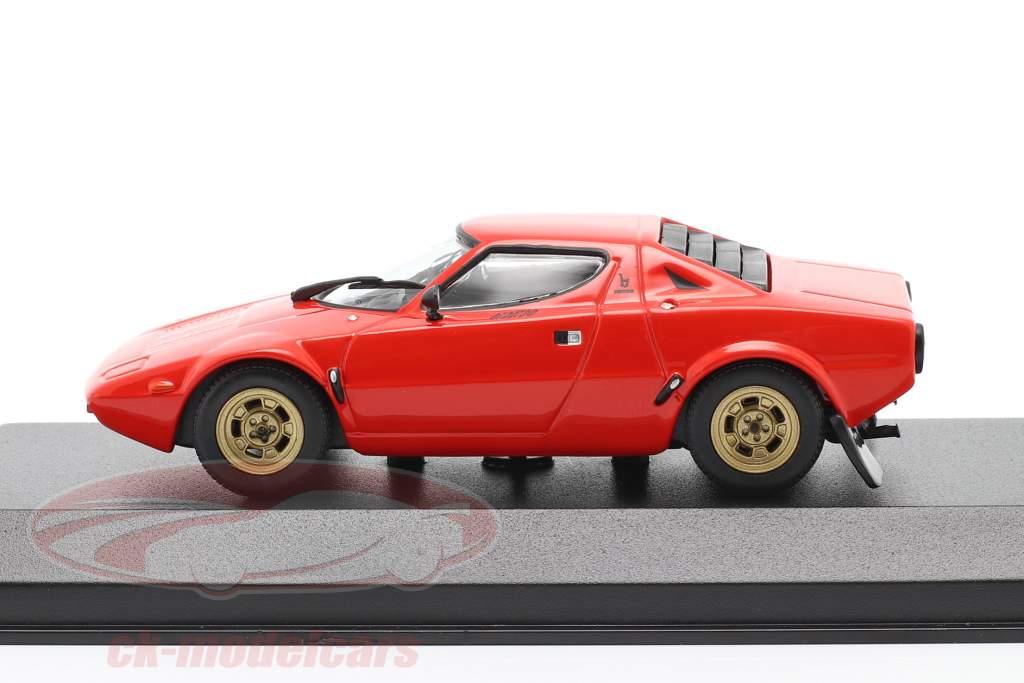 Lancia Stratos Année de construction 1974 rouge 1:43 Minichamps
