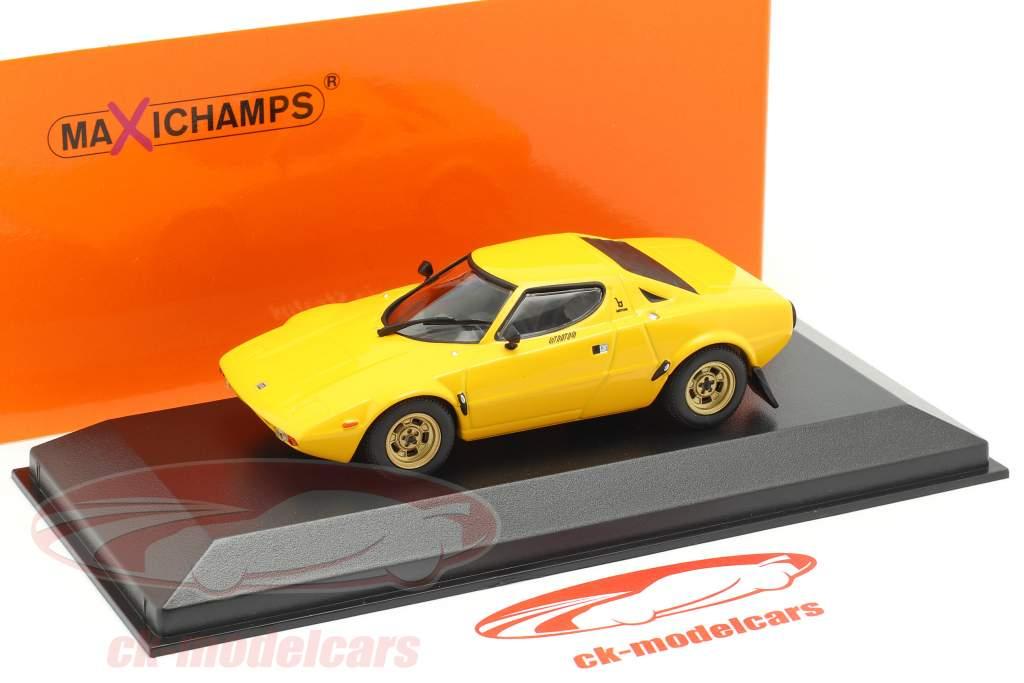 Lancia Stratos Anno di costruzione 1974 giallo 1:43 Minichamps