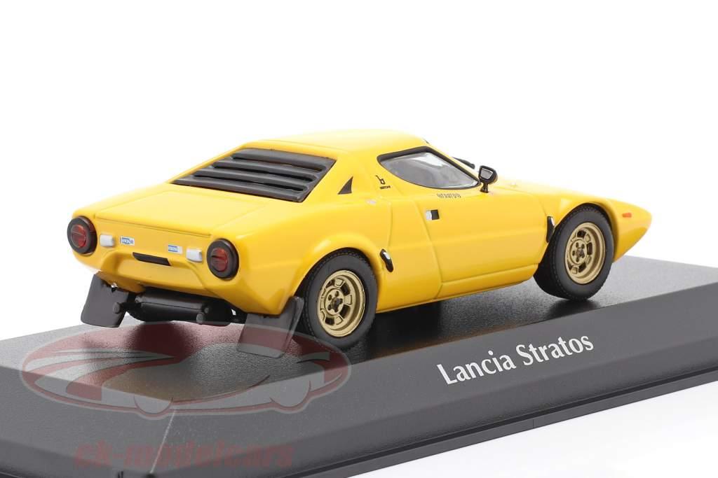 Lancia Stratos Baujahr 1974 gelb 1:43 Minichamps