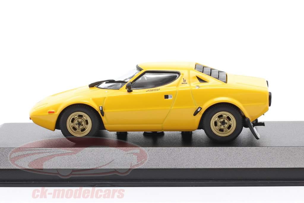 Lancia Stratos Ano de construção 1974 amarelo 1:43 Minichamps