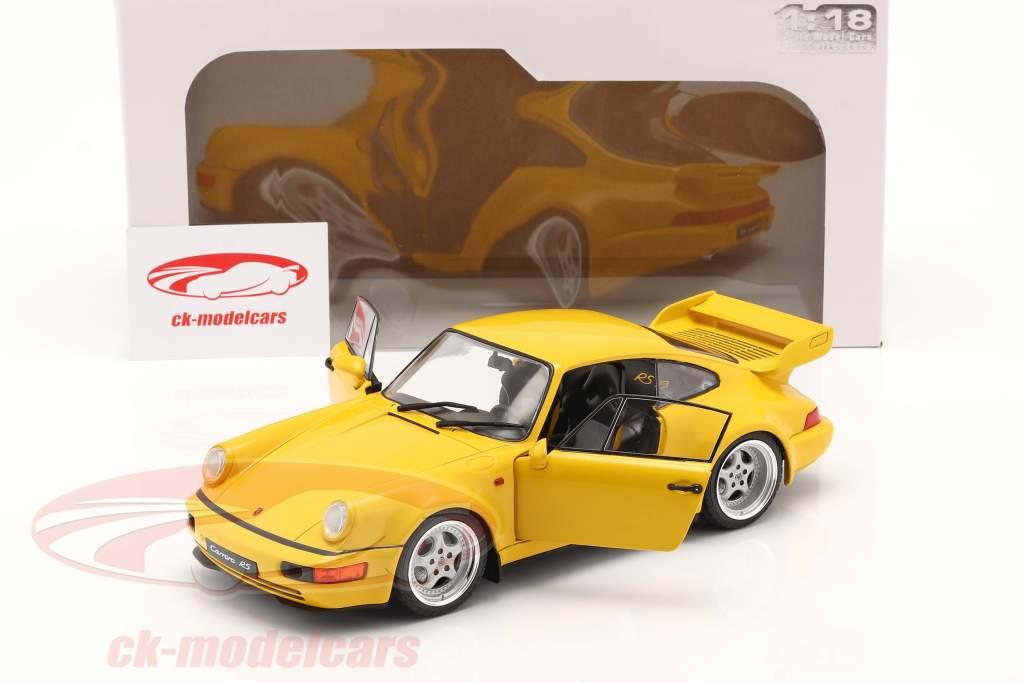 Porsche 911 (964) 3.8 RS Anno di costruzione 1990 giallo velocità 1:18 Solido