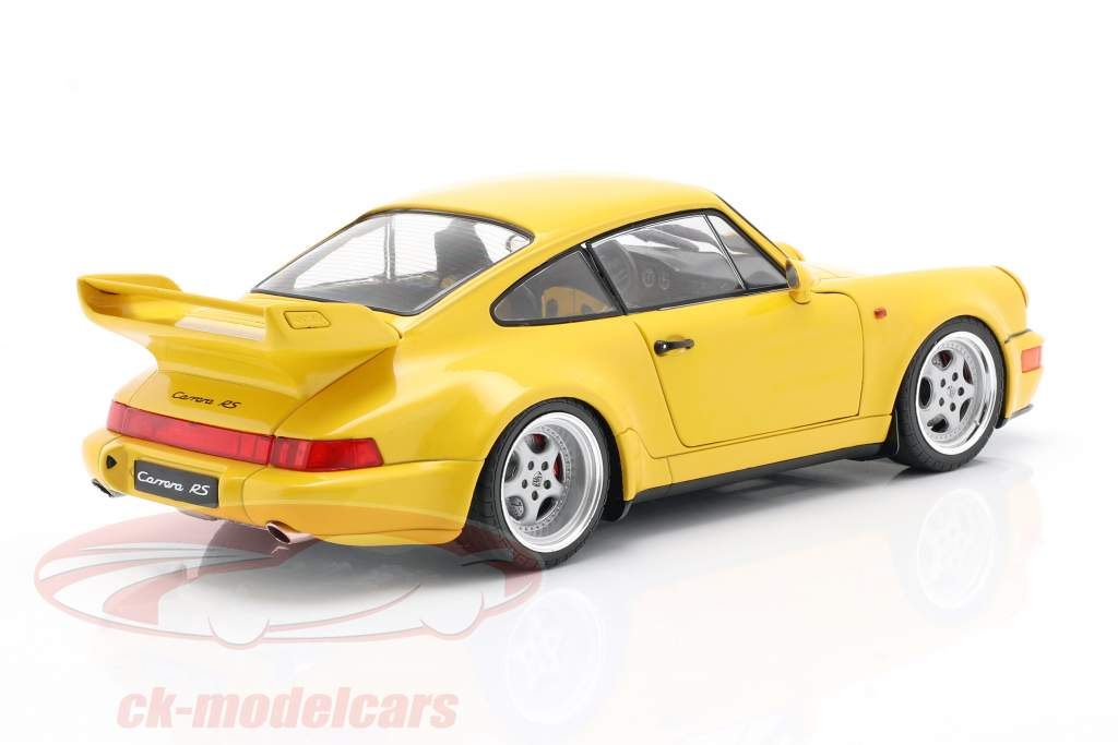 Porsche 911 (964) 3.8 RS Bouwjaar 1990 snelheid geel 1:18 Solido