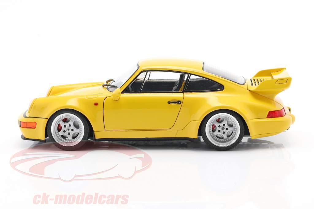 Porsche 911 (964) 3.8 RS Ano de construção 1990 velocidade amarela 1:18 Solido