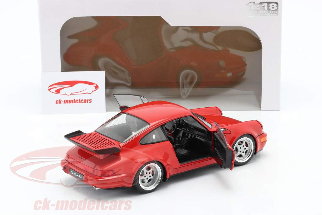 Porsche 911 (964) 3.6 Turbo Année de construction 1990 gardes rouge 1:18 Solido